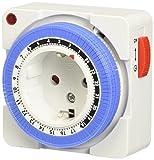 Arendo - 24h mechanische Zeitschaltuhr - 24 Hours Plug in Timer-...