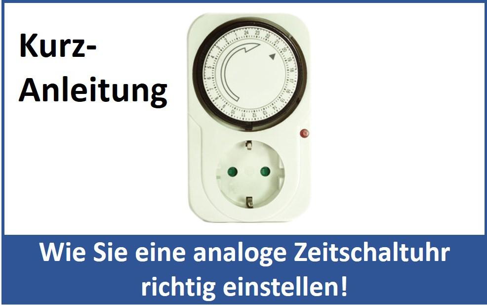 Analoge Zeitschaltuhr einstellen